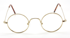 Shiny Gold Hypoallergenic True Round Eyewear At The Old Glasses Shop