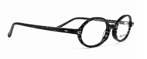 Anglo American 401 CRBI Oval Glasses in Black with White Flecks from www.theoldglassesshop.co.uk