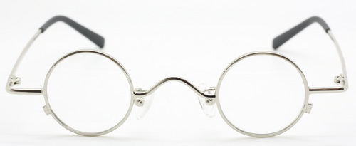 Small Round Shiny Silver Vintage Style Spectacles At The Old Glasses Shop