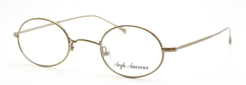 Vintage Style Anglo American 41P GO Shiny Gold Oval Spectacles From The Old Glasses Shop