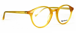 Anglo American 406 OP7 Jelly Bean Yellow Panto Glasses Frames