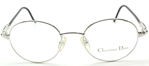 Oval Silver Designer Glasses By Christian Dior