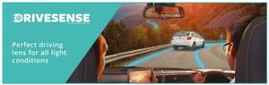 1.6 High Index Jai Kudo Drivesense Single Vision Distance Lenses With Honeycomb Design And Hydro+ Coating