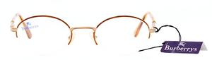 Classic 1980s BURBERRY B8787 Vintage Half Rim Designer Frames