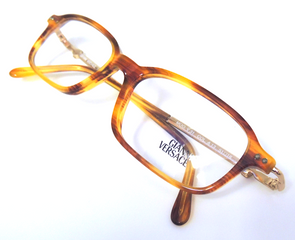 Vintage Versace V31 Turtle & Gold Acrylic And metal Combination Eyewear At The Old Glasses Shop Ltd