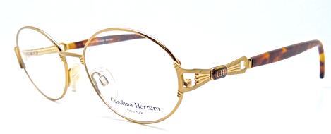 Carolina Herrera New York gold finish 1990s eyewear at www.theoldglassesshop.co.uk
