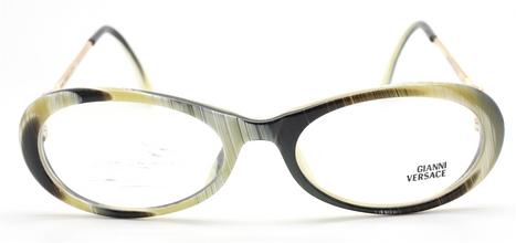 Vintage Versace V32 Horn Effect Oval Eyewear At The Old Glasses Shop