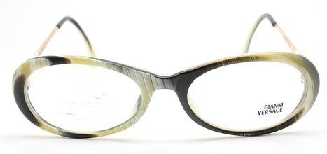 Vintage Versace V32 Horn Effect Oval Eyewear At The Old Glasses Shop