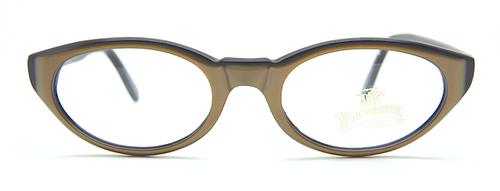 Winchester Manitoba 50's style acrylic glasses in bronze finish from www.theoldglassesshop.co.uk