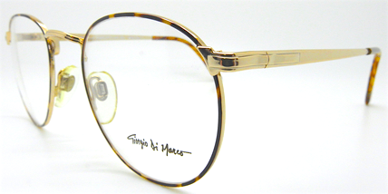 Giorgio De Marco 20 06 gold and tortoiseshell colour panto shaped glasses at The Old Glasses Shop