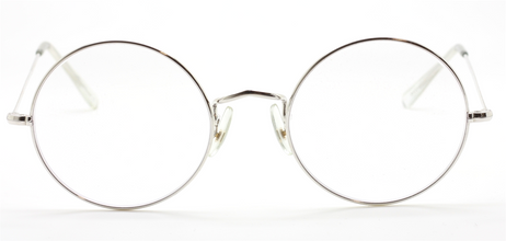 Vintage Savile Row 49mm True Round Rhodium Eyewear At The Old Glasses Shop