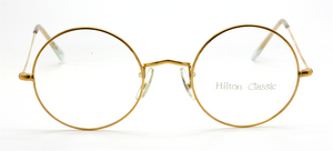 49mm True Round 14kt Rolled Gold Eyewear By Hilton Classics At The Old Glasses Shop