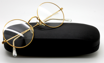 44mm True Round 14kt Gold Hilton Classic Vintage Eyewear At The Old Glasses Shop