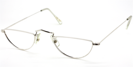 Savile Row Half Eye Rhodium Eyewear At The Old Glasses Shop