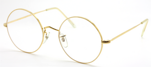 Vintage B.O.I.C. True Round Gold Eyewear Made By Algha Works London At The Old Glasses Shop Ltd