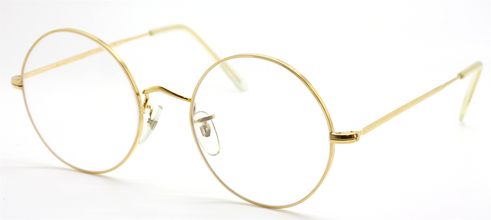 Vintage B.O.I.C. True Round Gold Eyewear Made By Algha Works London At The Old Glasses Shop Ltd