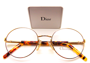 Round Gold Designer Glasses By Christian Dior