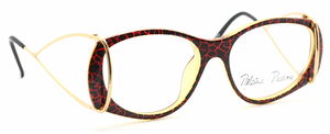 Unique black, read and gold vintage glasses by Paloma Picasso At www.theoldglassesshop.co.uk