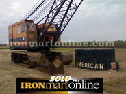 1975 American 7250 60-Ton Crawler Crane, with Cummins engine.