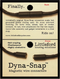 Dyna-Snap packaging