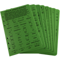 RITE IN THE RAIN 9200-R (TACTICAL REFERENCE CARDS - GREEN - NSN 7530-01-545-0372)