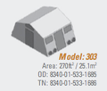 Shelter, Base-X, 303, 18'x15' - NSN 8340-01-533-1685, 8340-01-533-1686