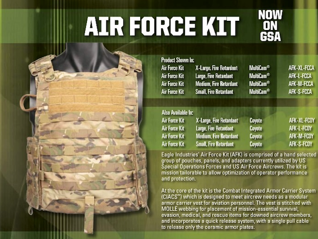 Air Force Kit (AFK), Complete, NSN 8465-01-607-7400, Flame