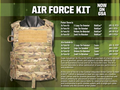 Air Force Kit (AFK), Complete, NSN 8465-01-607-7405, Flame-Resistant (FR), MultiCam (OCP), X-Large
