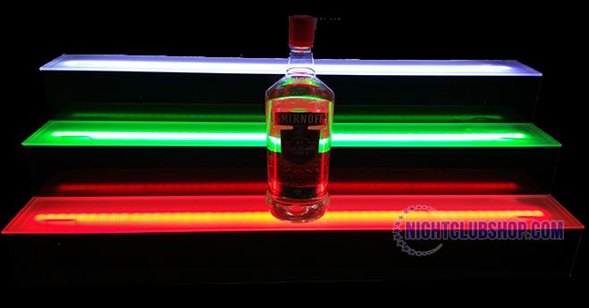 Led 3 Tier Liquor Bottle Shelf Display Glorifier