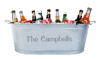 Serve unlimited cold drinks at your next barbecue or party from the Personalized Galvanized Beverage Tub. This item is not only waterproof, but also rust .