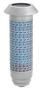 """9872PCF ~ Solar Powered Silver/Blue with Filigree ~ Solar Powered Cemetery Lights with ground stake included.  The Solar Powered Lights are 12 3/4"""" H. 100% American Made! Side Brackets (AL-1) and replacement batteries are available at an additional cost."""
