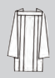 Tailored Priest Surplices. Polyester Poplin. Wash and wear. Available in sizes: Extra Small, Small, Medium, Large and Extra Large