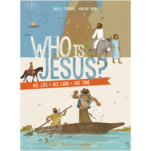 Who is Jesus, His Life ~ His Land ~ His Time. Wonderfully told and illustrated by Magnificat! Recommended for children 9 years and older.  Who were Jesus' grandparents?What was his house like?What kinds of fish did Peter catch in the Sea of Galilee?What did the Jerusalem Temple look like?Why were the Romans in the land of Jesus?What kinds of trees grew along the roads where Jesus walked? Fascinating facts and illustrations about the land and time that Jesus lived in provide background for a greater appreciation of the Bible stories that recount the history of our salvation. Softcover with flaps, 96 pages
