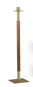 "Paschal Candle Stand Style 1877 Standard - Hardwood shaft, satin Brass finish. Standard Size - 43"" inch Height, 10""x10"" Steel Base. 1-15/16"" Candle Socket. Paschal Candle Stand Style 1877 Short - Hardwood shaft, satin Brass finish. Standard Size - 30"" inch Height, 10""x10"" Steel Base. 1-15/16"" Candle Socket. *** Please Note ***  Paschal Stands will be shipped with a standard sized 1-15/16"" socket. Other sizes are available up to 3"" with no additional charge. Please specify alternate socket size. Call 1 800 523 7604 to order a larger size."