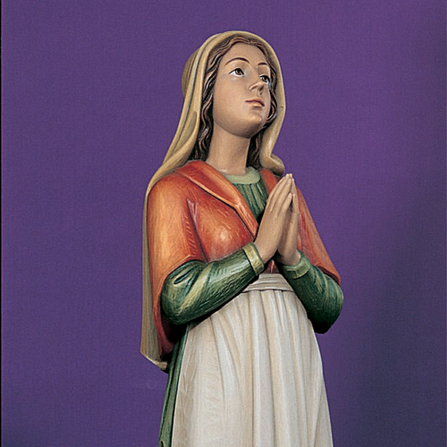 Wood Carved Statue in color, from Demetz Art Studio in Italy.  Statue is Hand Carved in Linden Wood, high relief.  Available in multiple sizes and stains. Please inquire at 1.800.523.7604 for pricing. Each statue is sold separately