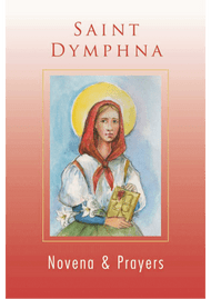 St. Dymphna has gained great popularity as the patroness of those who suffer with mental or emotional problems. Ancient traditions state that when Dymphna was a teenager her mother died, and her father, a petty king of Oriel wanted to remarry a woman as beautiful as his wife who had just died. He slipped into mental illness and desired to marry his daughter. Dymphna was advised to flee the country which she did along with the priest who had instructed her for baptism, Fr. Gerebran, and two servants. Her father, who pursued her, killed her in a fit of rage. Dymphna and Fr. Gerebran were buried in a cave. Years later when the villagers decided to move the bodies for a more suitable burial they found in the cave two beautiful tombs, whiter than snow. Soon miraculous cures began to occur. St. Dymphna's fame as patroness of those who suffer with mental and emotional problems spread widely and people came to her shrine on pilgrijmage.