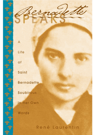 A Life of St. Bernadette Soubirous in Her Own Words  This is a different kind of saint's biography-one that reads almost like a novel. In these pages Bernadette lives again. We follow her from birth to death, hearing her speak, watching her interact, experiencing with her the life-changing impact of the eighteen apparitions of the Virgin Mary at Lourdes.  But this is not a novel. Everything recounted here has been strictly authenticated by the author, renowned Marian scholar Father René Laurentin. Father Laurentin has spent twenty years, in collaboration with several successive teams of experts, scientifically establishing the history of Lourdes and of Bernadette Soubirous. The fascinating result reveals the hidden face of Saint Bernadette.  The Holy Spirit led Bernadette down a path of Gospel holiness and simplicity-a path of abandonment to the merciful love of God. She remains for us a humble and radiant herald of our Lord and our Lady, echoing across the centuries a message of challenge and of hope: change your heart; begin to fully live the Gospel of Jesus.