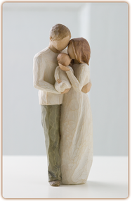 Our bright, joyful gift! Wooden figure stands 8.5 inches tall.