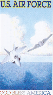 """US Air Force Laminated Prayer Card. Size:  2.5"""" x 4.25"""". Front:  Full color picture of US Air Force. Back:  """"Prayer for Those in Military Service"""""""