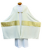 Humeral Veil ~ 2047  Tailored in a white linen-weave polyester with gold and white satin brocade.
