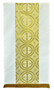 Lectern Hanging ~ 2048  Tailored in a white linen weave polyester for easy care with gold and white satin brocade