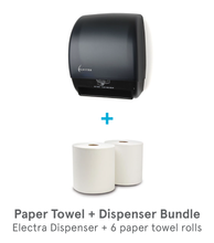 Electra Electronic Touchless Paper Towel Roll Dispenser Bundle