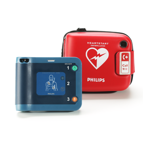 Philips HeartStart FRX AED Defibrillator + Semi-Rigid Carry Case, 861304