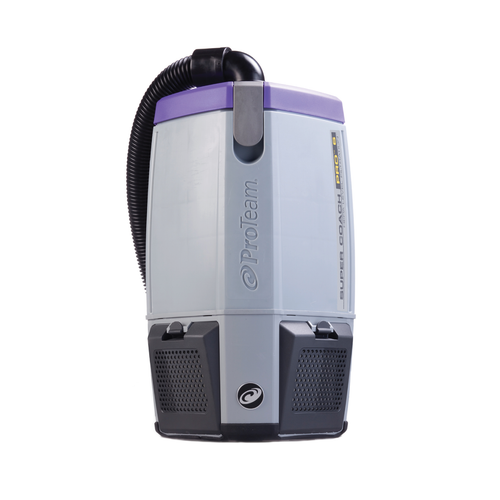 ProTeam Super Coach Pro 6, Backpack Vacuum with HEPA Filtration, 6 Qt, 107310