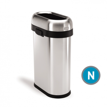 Simplehuman Slim Open Can, Brushed Stainless Steel, 50-liter (CW1467)