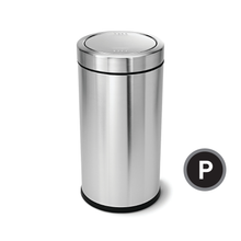 Simplehuman Swing Top Trash Can, Stainless Steel, 55-liter, CW1442