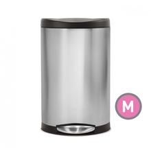 Simplehuman Semi-Round Step Trash Can, Plastic Lid (CW1954)