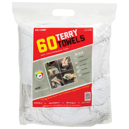White Shop Towels Bulk, Bag of Rags