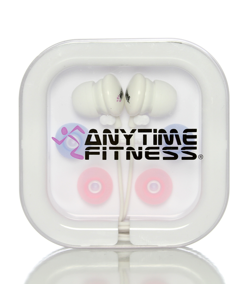 Anytime Fitness Headphones, Earbuds, Lightweight