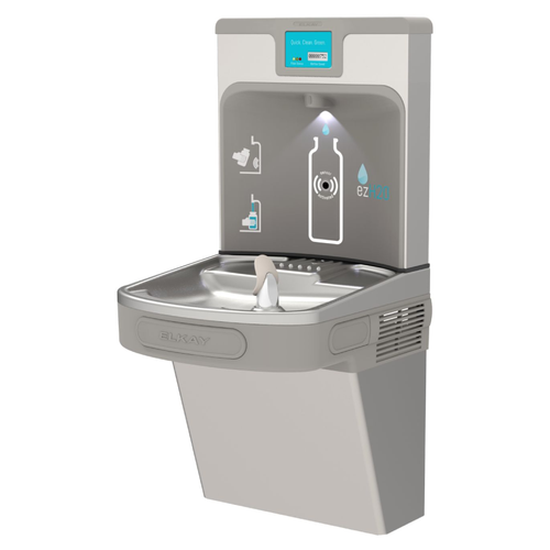ELKAY EZ H20 Bottle Filling Station, Single LZ Cooler, Light Gray, LZS8WSLP (ELK-LZS8WSLP)